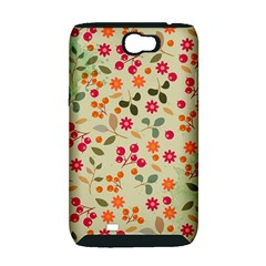 Elegant Floral Seamless Pattern Samsung Galaxy Note 2 Hardshell Case (PC+Silicone)