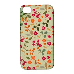 Elegant Floral Seamless Pattern Apple iPhone 4/4S Hardshell Case with Stand