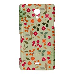 Elegant Floral Seamless Pattern Sony Xperia T