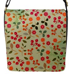 Elegant Floral Seamless Pattern Flap Messenger Bag (s)