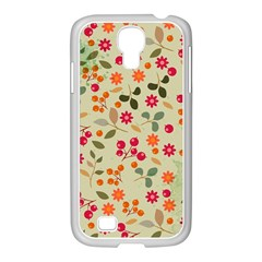 Elegant Floral Seamless Pattern Samsung Galaxy S4 I9500/ I9505 Case (white)
