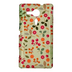 Elegant Floral Seamless Pattern Sony Xperia SP