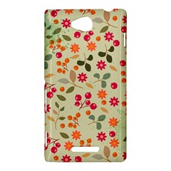 Elegant Floral Seamless Pattern Sony Xperia C (S39H)