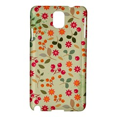 Elegant Floral Seamless Pattern Samsung Galaxy Note 3 N9005 Hardshell Case