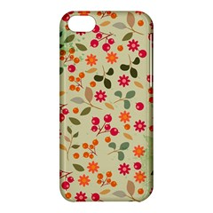 Elegant Floral Seamless Pattern Apple iPhone 5C Hardshell Case