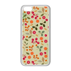 Elegant Floral Seamless Pattern Apple Iphone 5c Seamless Case (white)