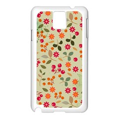Elegant Floral Seamless Pattern Samsung Galaxy Note 3 N9005 Case (White)