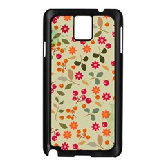 Elegant Floral Seamless Pattern Samsung Galaxy Note 3 N9005 Case (Black)