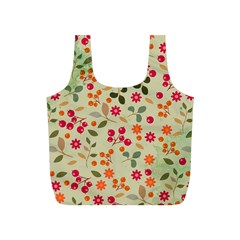 Elegant Floral Seamless Pattern Full Print Recycle Bags (S)