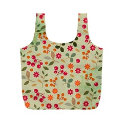 Elegant Floral Seamless Pattern Full Print Recycle Bags (m)