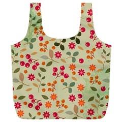 Elegant Floral Seamless Pattern Full Print Recycle Bags (L)