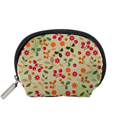 Elegant Floral Seamless Pattern Accessory Pouches (Small)