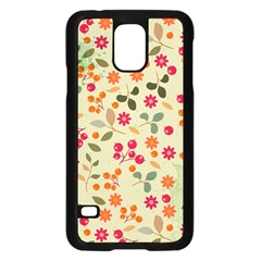 Elegant Floral Seamless Pattern Samsung Galaxy S5 Case (Black)
