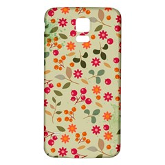 Elegant Floral Seamless Pattern Samsung Galaxy S5 Back Case (white)
