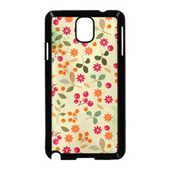 Elegant Floral Seamless Pattern Samsung Galaxy Note 3 Neo Hardshell Case (black)