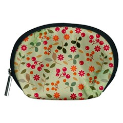 Elegant Floral Seamless Pattern Accessory Pouches (Medium)