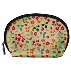 Elegant Floral Seamless Pattern Accessory Pouches (large)