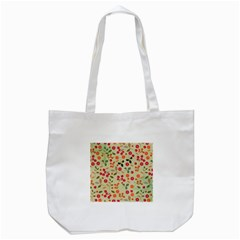 Elegant Floral Seamless Pattern Tote Bag (White)