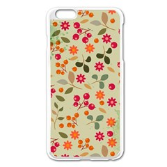 Elegant Floral Seamless Pattern Apple Iphone 6 Plus/6s Plus Enamel White Case