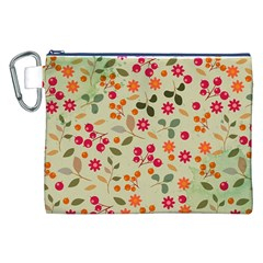 Elegant Floral Seamless Pattern Canvas Cosmetic Bag (XXL)