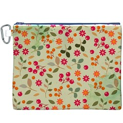 Elegant Floral Seamless Pattern Canvas Cosmetic Bag (XXXL)