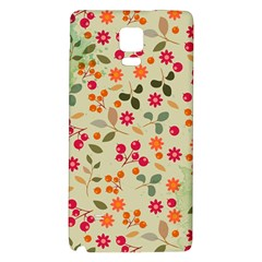 Elegant Floral Seamless Pattern Galaxy Note 4 Back Case