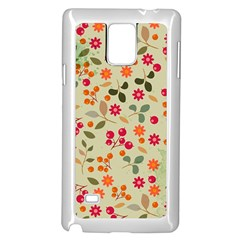 Elegant Floral Seamless Pattern Samsung Galaxy Note 4 Case (white)