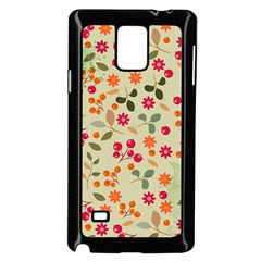 Elegant Floral Seamless Pattern Samsung Galaxy Note 4 Case (Black)