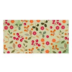 Elegant Floral Seamless Pattern Satin Shawl