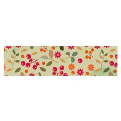 Elegant Floral Seamless Pattern Satin Scarf (oblong)
