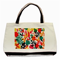 Seamless Autumn Leaves Pattern  Basic Tote Bag