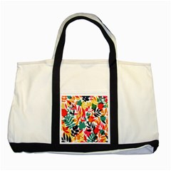 Seamless Autumn Leaves Pattern  Two Tone Tote Bag