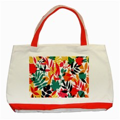 Seamless Autumn Leaves Pattern  Classic Tote Bag (Red)