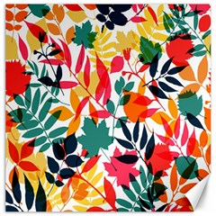 Seamless Autumn Leaves Pattern  Canvas 16  X 16