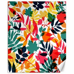 Seamless Autumn Leaves Pattern  Canvas 16  X 20