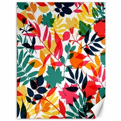 Seamless Autumn Leaves Pattern  Canvas 36  X 48