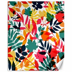 Seamless Autumn Leaves Pattern  Canvas 11  x 14
