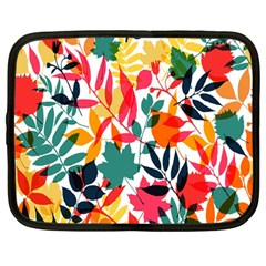 Seamless Autumn Leaves Pattern  Netbook Case (Large)