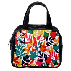Seamless Autumn Leaves Pattern  Classic Handbags (One Side)