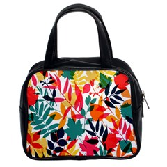 Seamless Autumn Leaves Pattern  Classic Handbags (2 Sides)