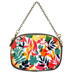 Seamless Autumn Leaves Pattern  Chain Purses (One Side)