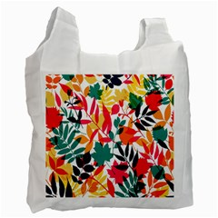 Seamless Autumn Leaves Pattern  Recycle Bag (One Side)
