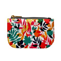 Seamless Autumn Leaves Pattern  Mini Coin Purses