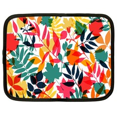 Seamless Autumn Leaves Pattern  Netbook Case (XXL)