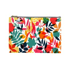 Seamless Autumn Leaves Pattern  Cosmetic Bag (Large)