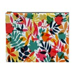 Seamless Autumn Leaves Pattern  Cosmetic Bag (XL) Front