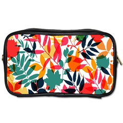 Seamless Autumn Leaves Pattern  Toiletries Bags 2 Side