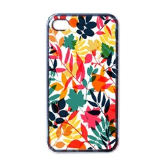 Seamless Autumn Leaves Pattern  Apple iPhone 4 Case (Black)