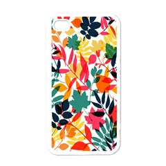Seamless Autumn Leaves Pattern  Apple iPhone 4 Case (White)