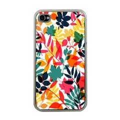 Seamless Autumn Leaves Pattern  Apple Iphone 4 Case (clear)